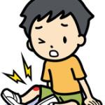 怪我をしている子供
